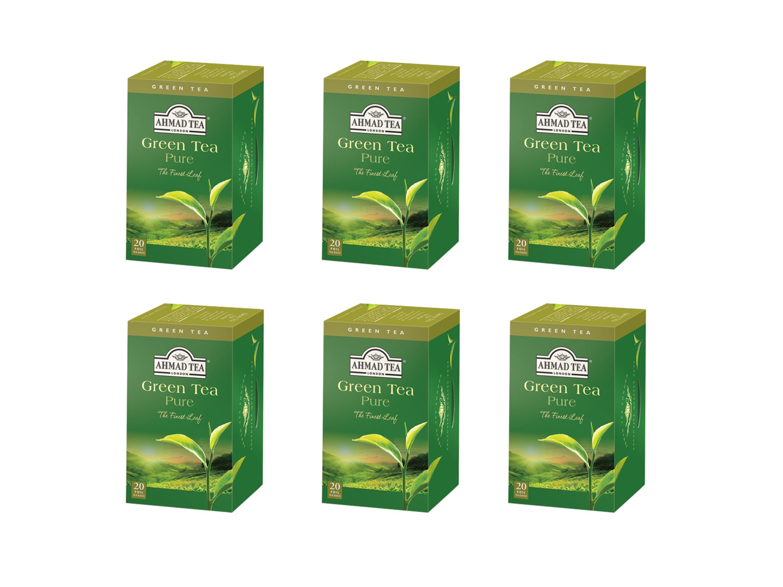 Ahmad Té Verde - Green Tea 20 bolsitas Pack 6