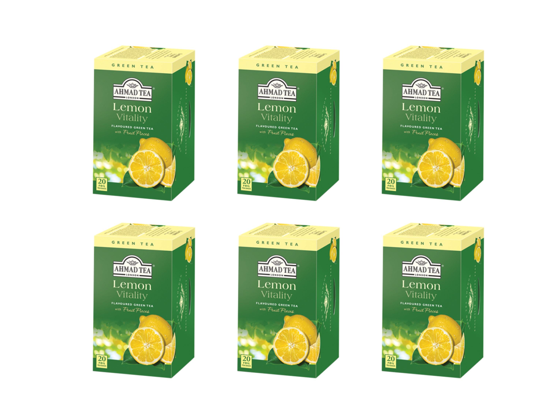 Ahmad Té Verde Limón 20 bolsitas Pack 6