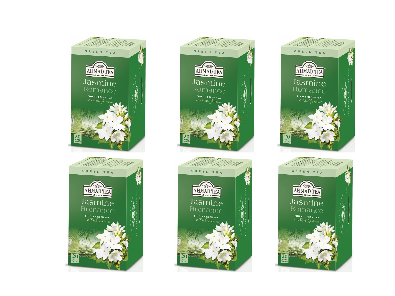 Ahmad Té Verde Jazmín 20 bolsitas Pack 6