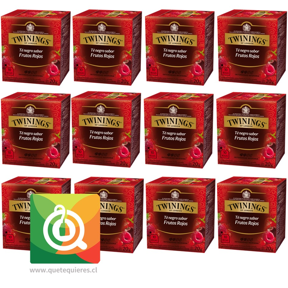 Twinings Té Negro 4 Frutos Rojos Pack 12