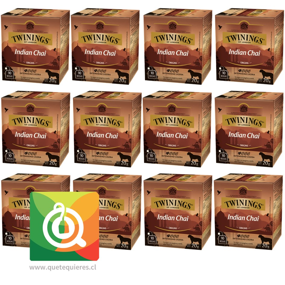 Twinings Té Negro Indian Chai Pack 12