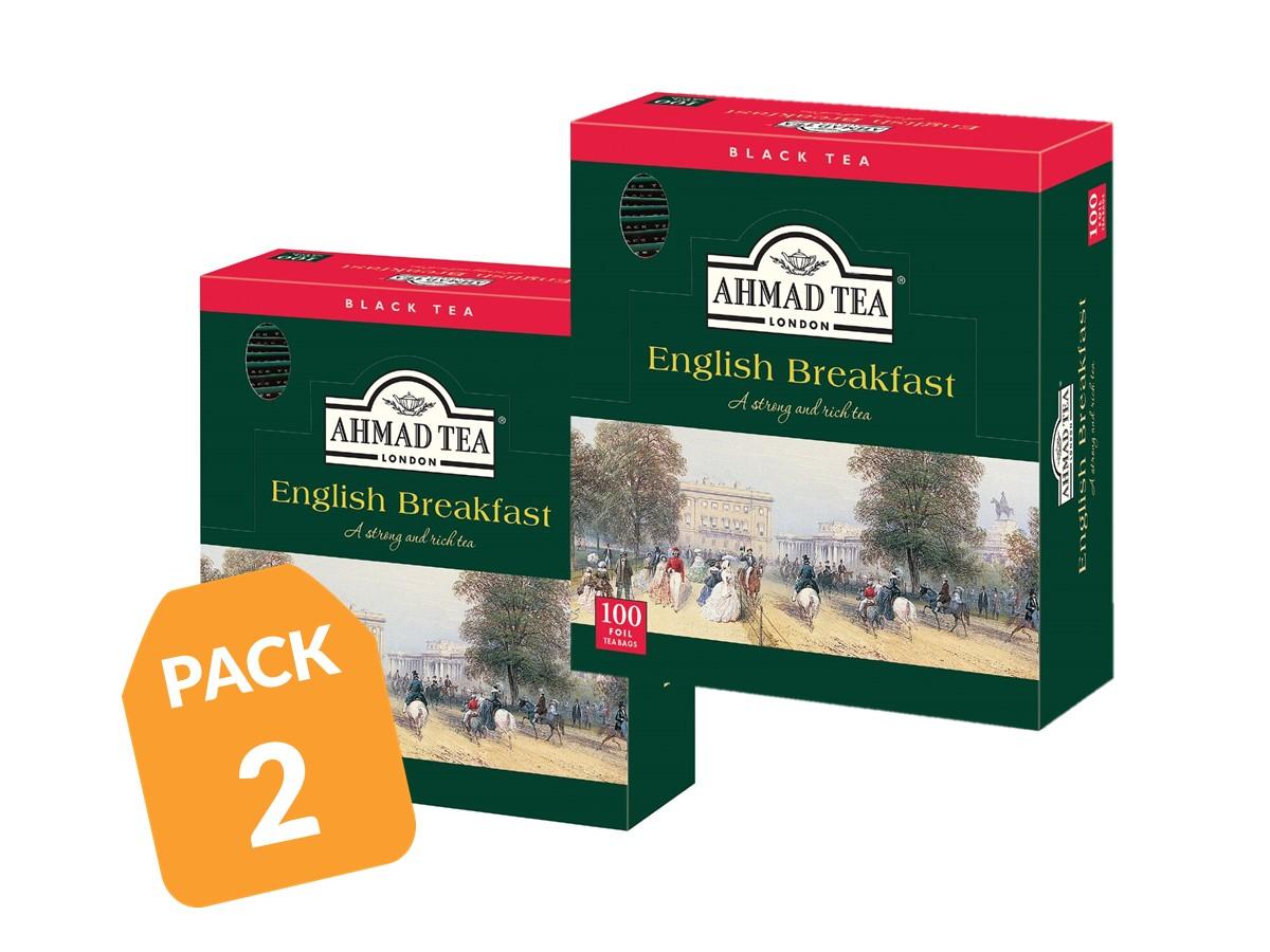 Ahmad Té Negro English Breakfast 100 bolsitas Pack 2
