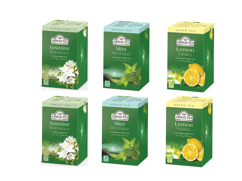 Ahmad Té Verde Surtidos Jazmín / Menta / Limón Pack 6