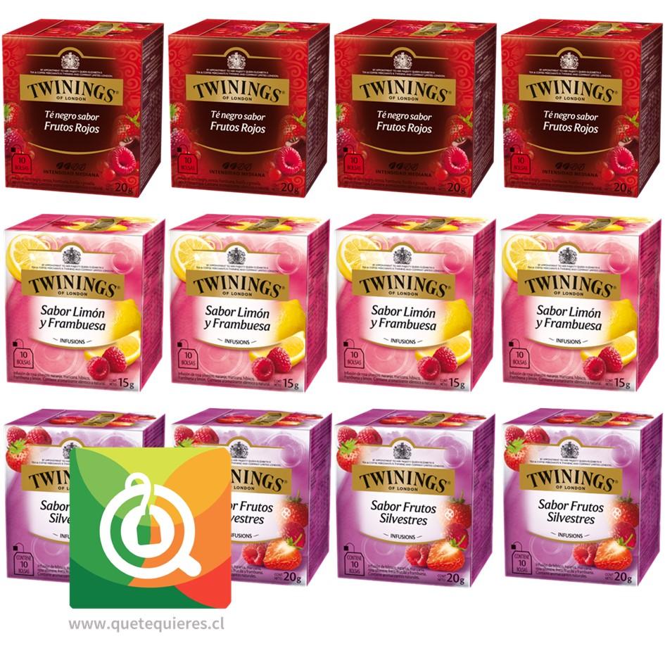 Twinings Surtido Berries de Té e Infusiones Pack 12