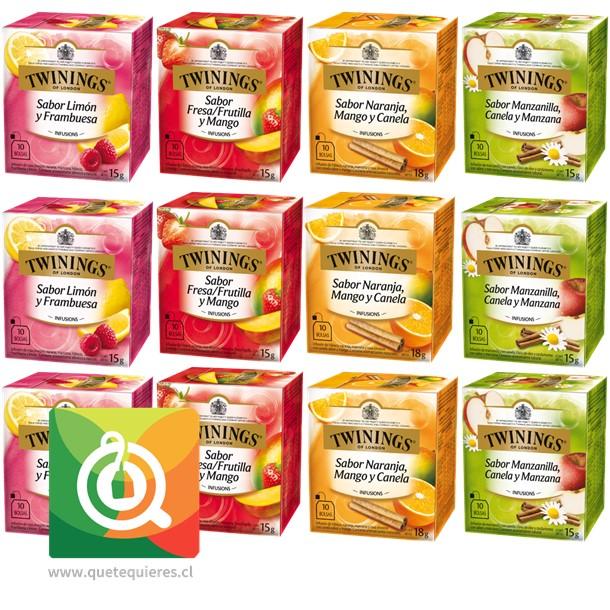 Twinings Surtido Infusiones de Frutas Pack 12