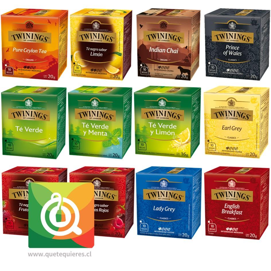 Twinings Surtido Té Negro y Té Verde Pack 12