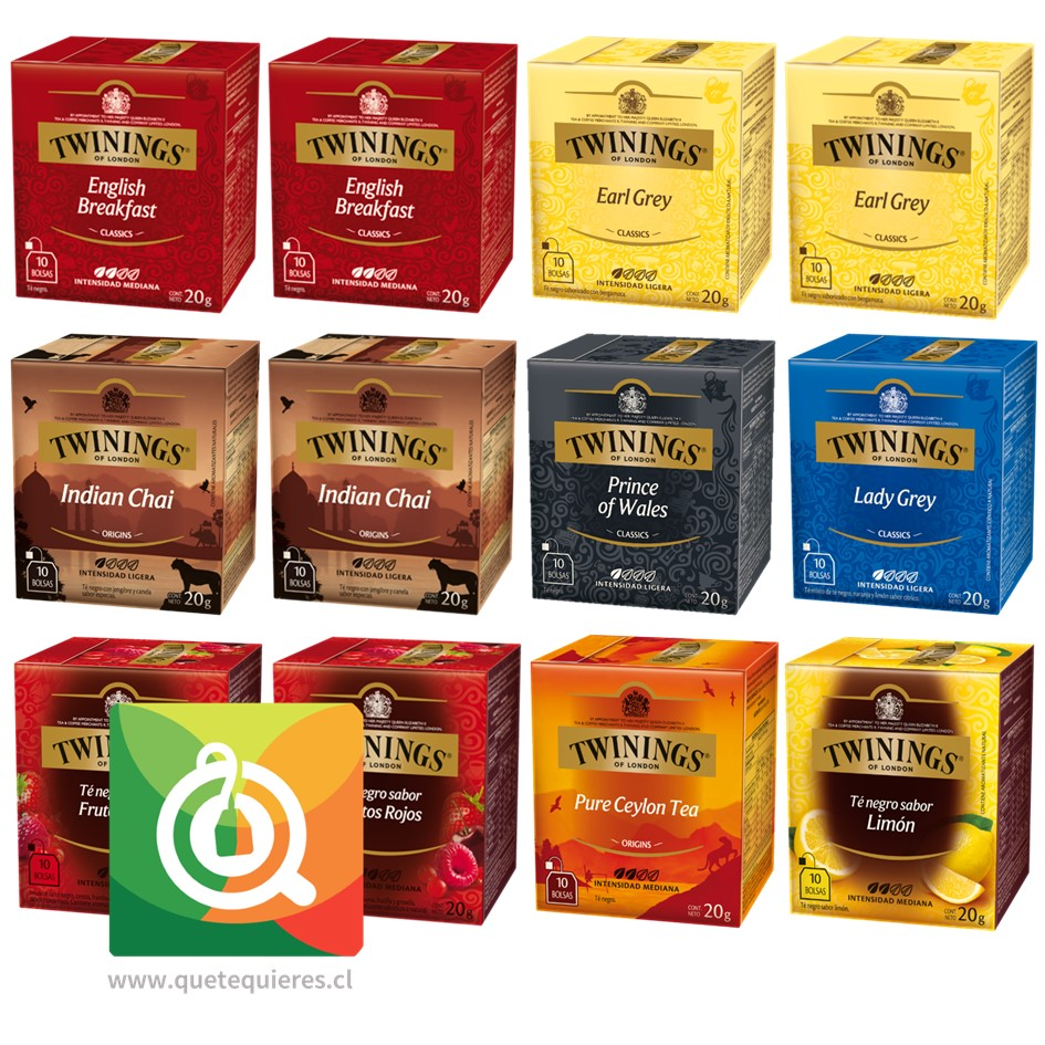 Twinings Surtido Té Negro Sabores Pack 12