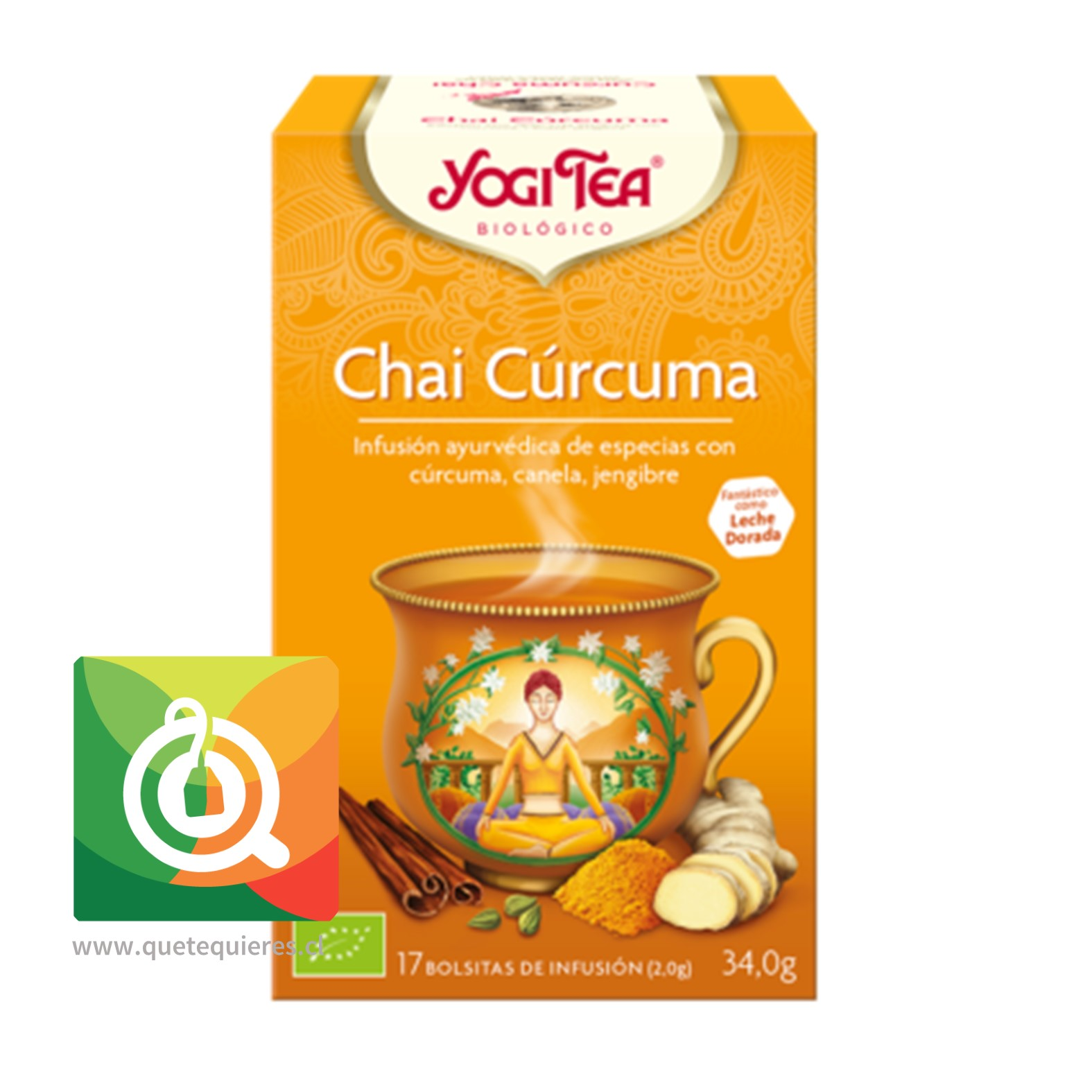 Yogi Tea Infusión Chai Cúrcuma Orgánica