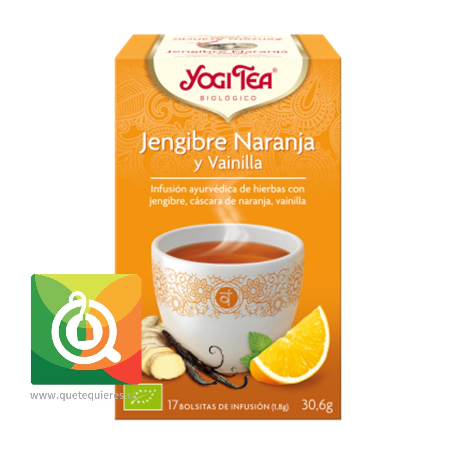 Yogi Tea Infusión Orgánica Jengibre, Naranja y Vainilla