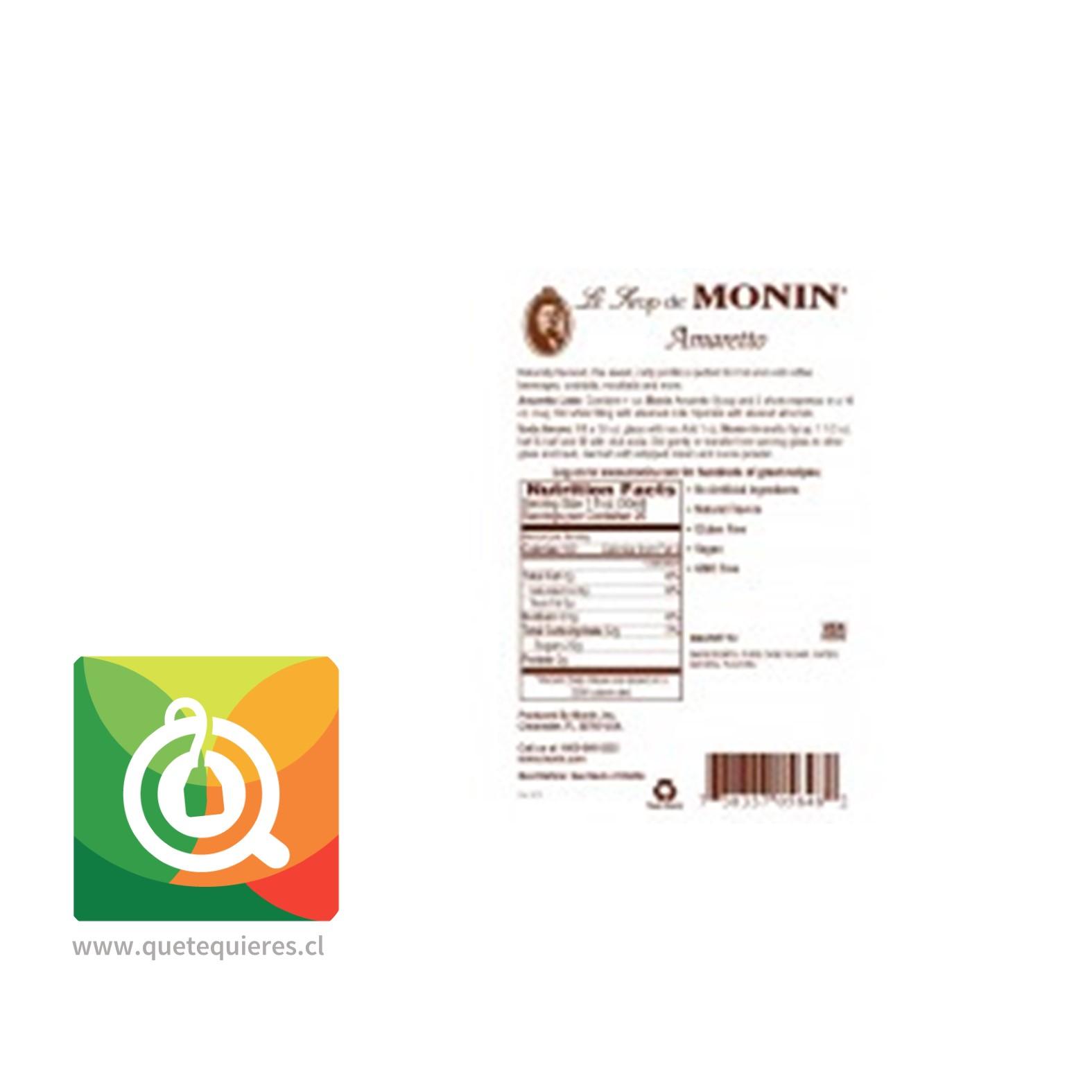 Monin Syrup Amareto- Image 2