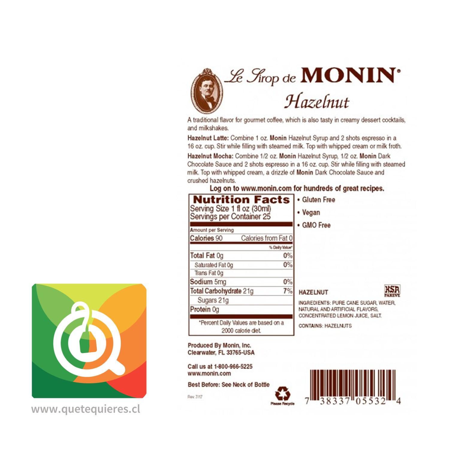 Monin Syrup Avellana- Image 2