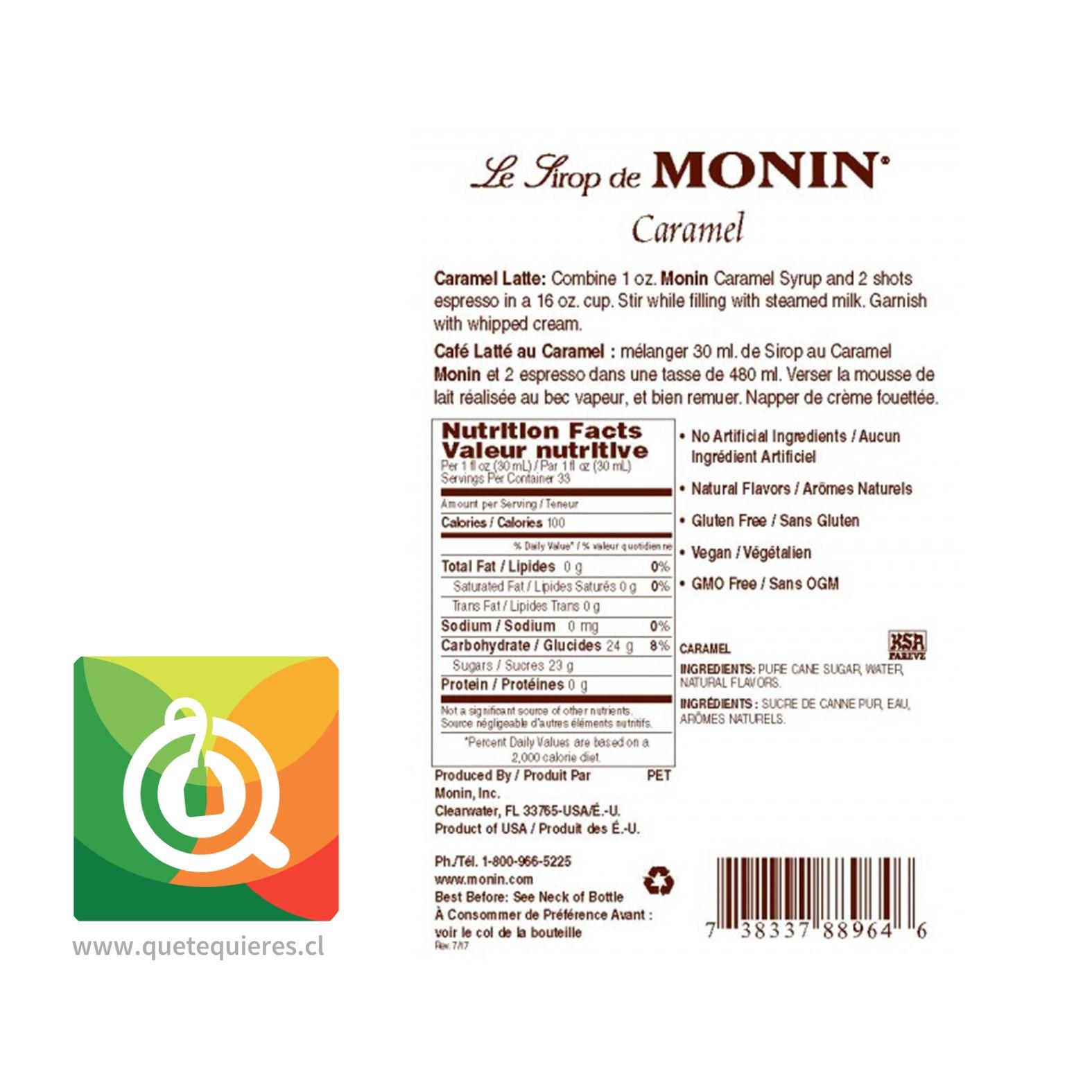 Monin Syrup Caramelo- Image 2