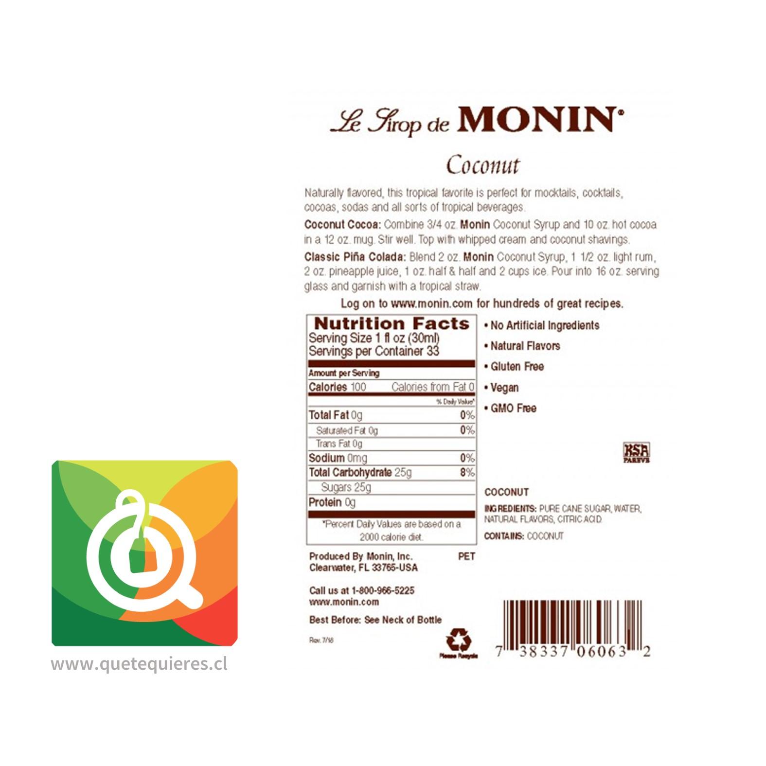 Monin Syrup Coco- Image 2