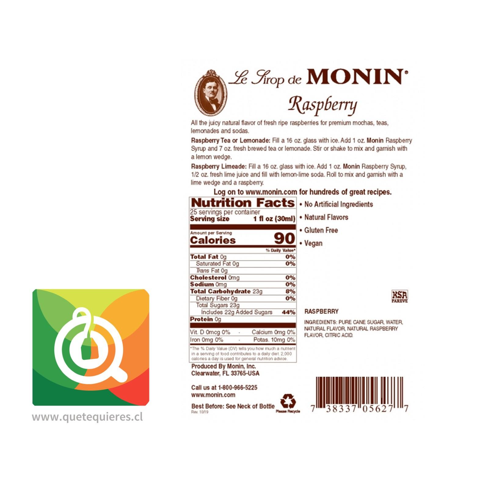Monin Syrup Frambuesa- Image 2