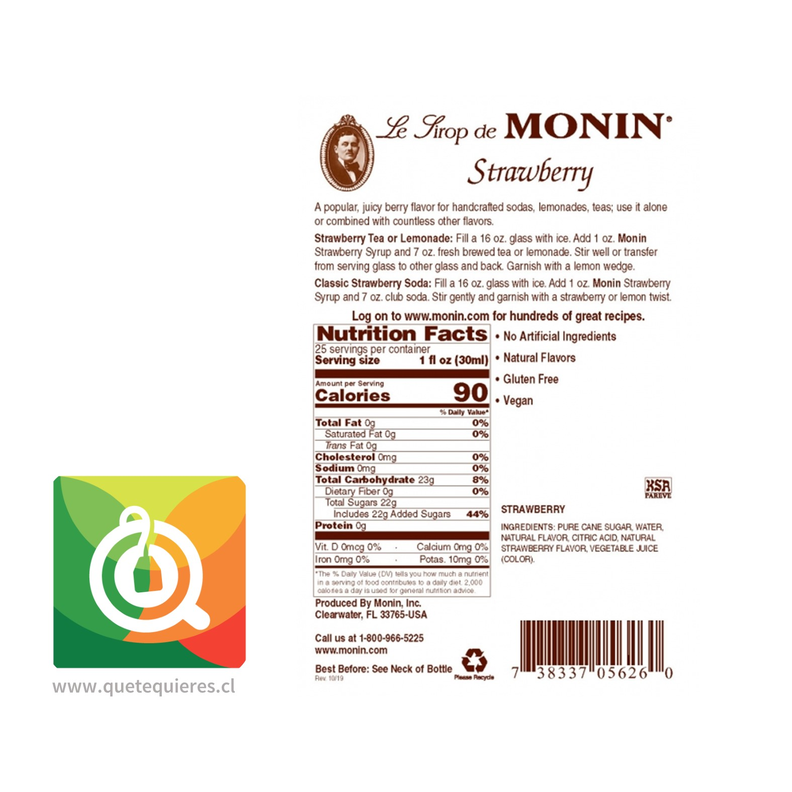 Monin Syrup Frutilla- Image 2