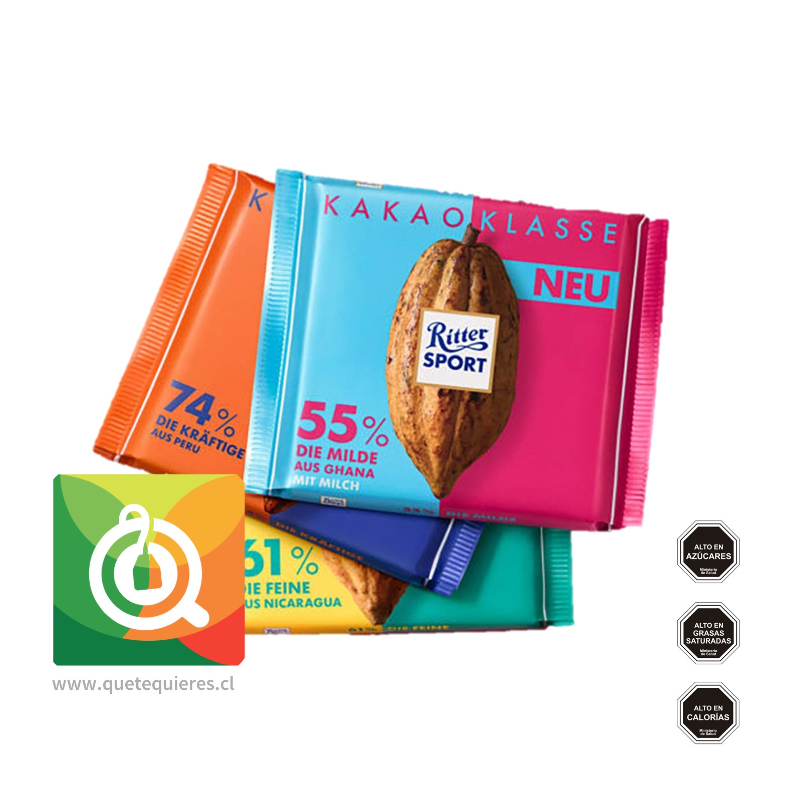 Ritter Sport Chocolate Barra 74% Cacao- Image 2