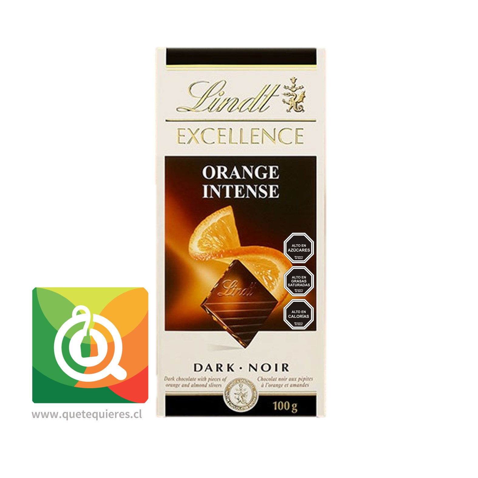 Lindt Chocolate Barra Excellence Intenso Naranja