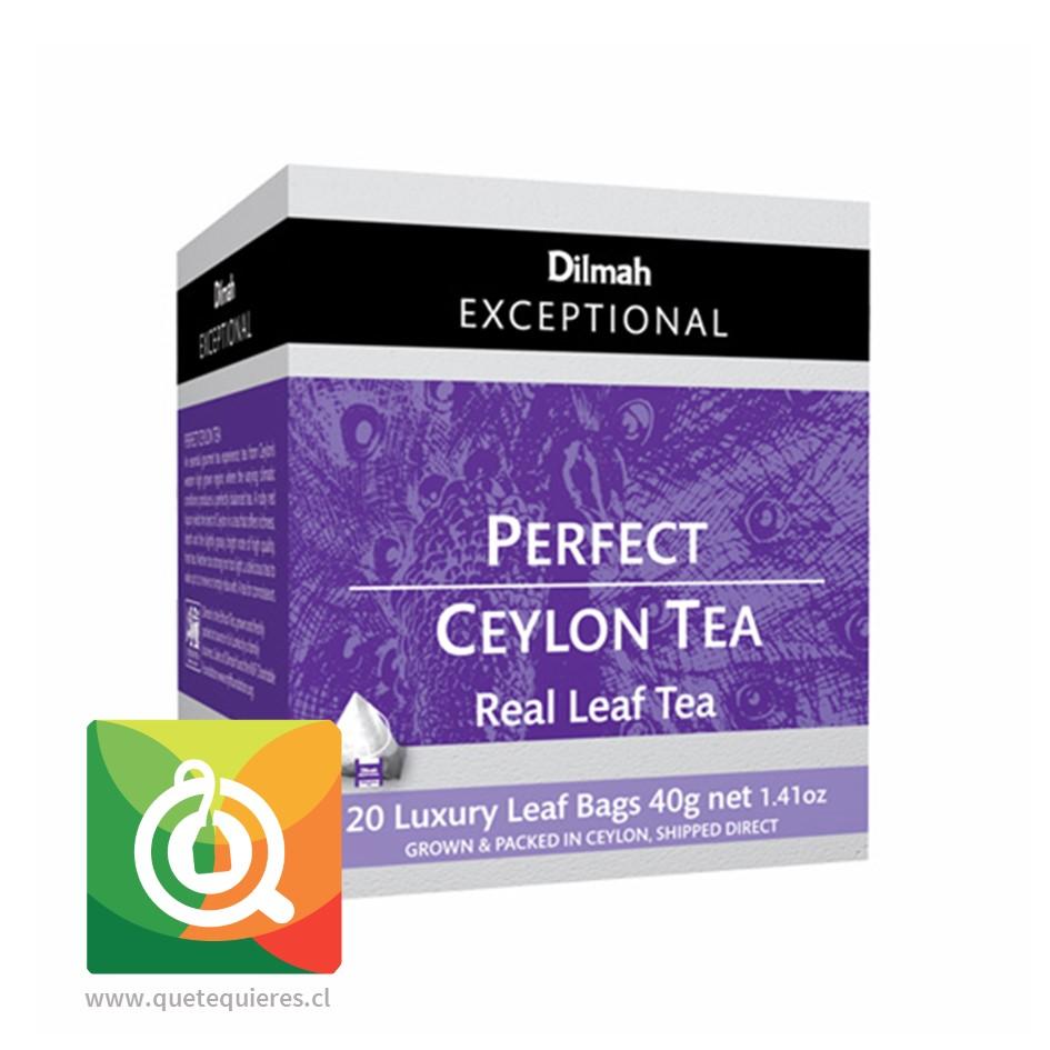 Dilmah Exceptional Té Negro Perfect Ceylon 20 pirámides