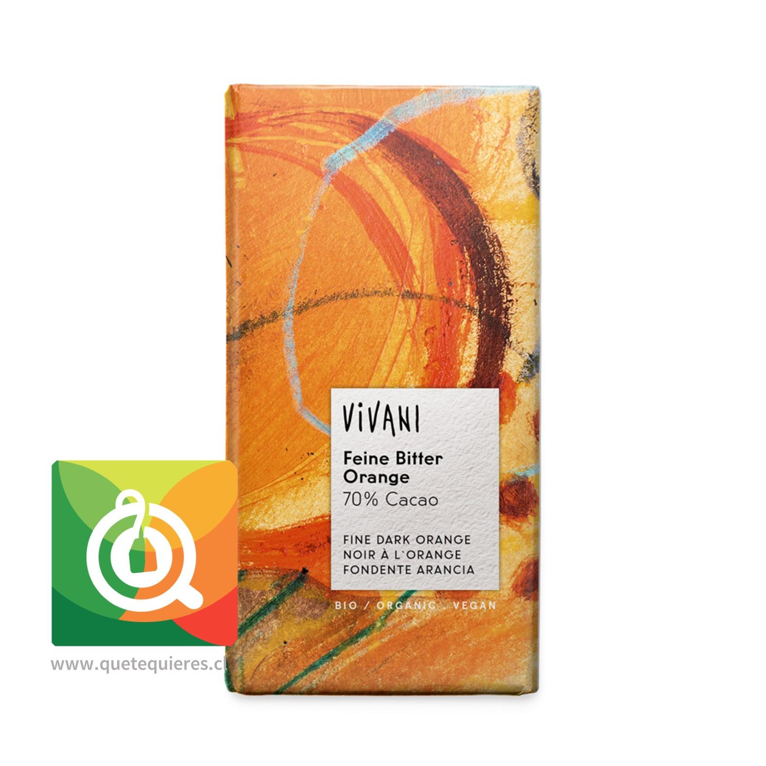 Vivani Chocolate Barra Naranja 70% Cacao / Vegano