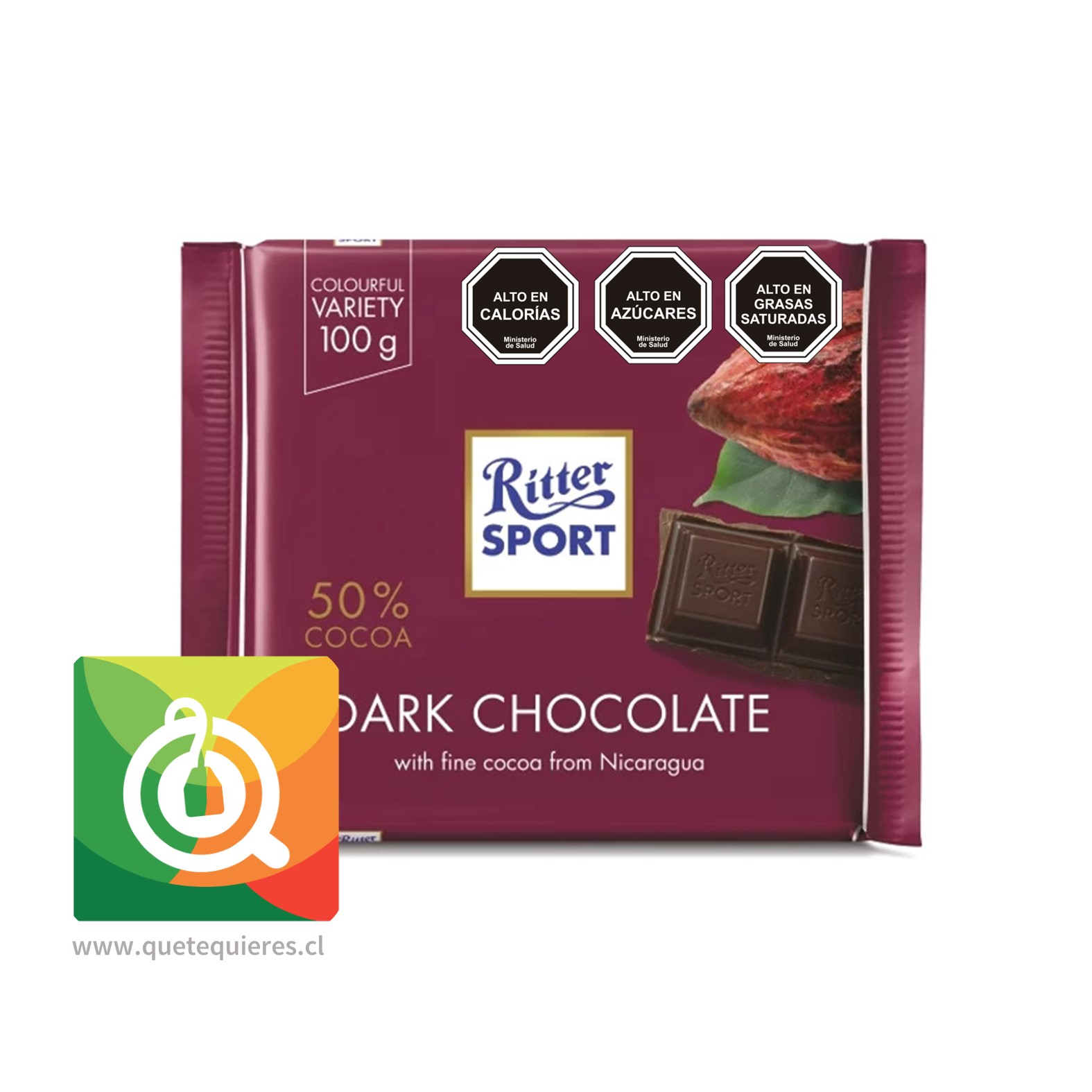 Ritter Sport Chocolate Semi amargo 50% cacao