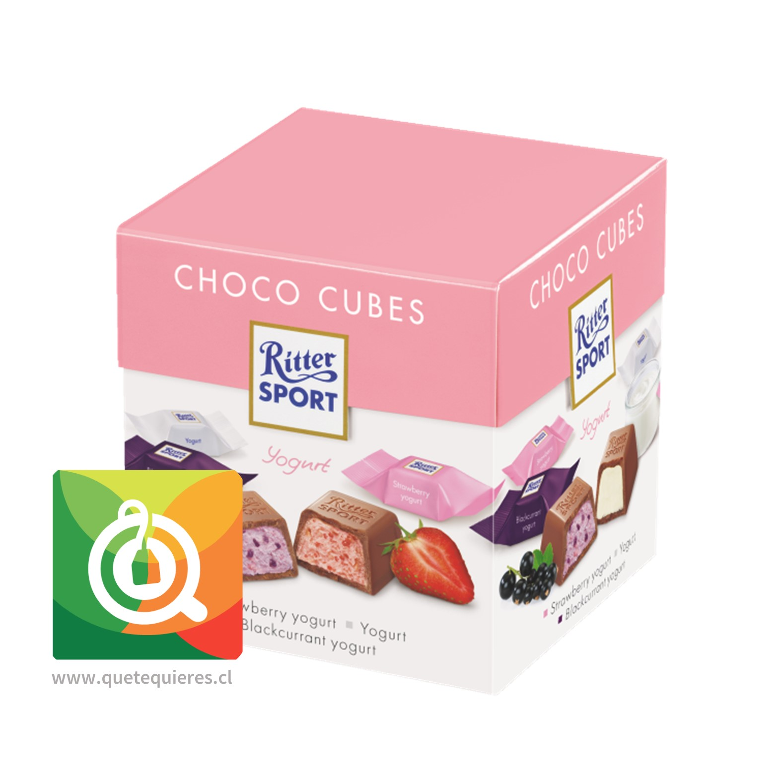 Ritter Sport Choco Cubes Yogurt -  22 Chocolates en Cuadritos