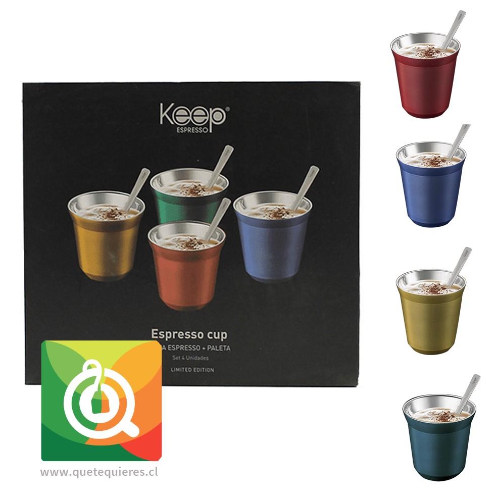 Keep Set Keep Set 4 Tasas Espresso + Paleta