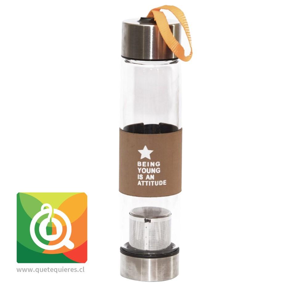 Botella Vidrio Infusor Metálico Star Café