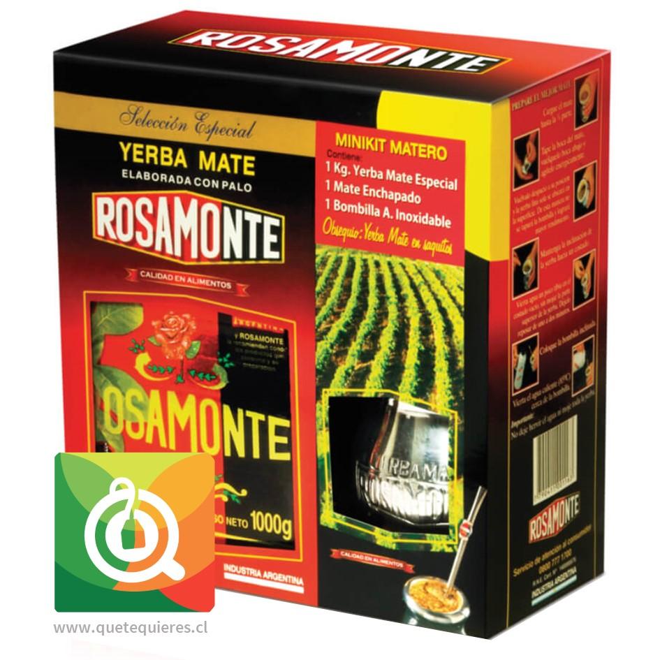 Rosamonte Kit Matero (Yerba Mate, Matero y Bombilla) - Image 1