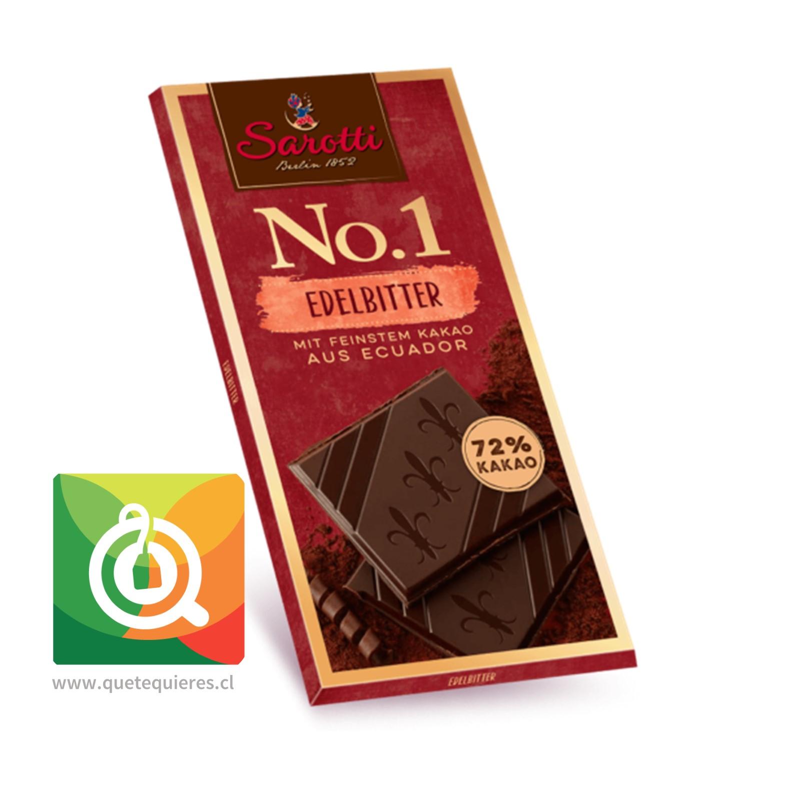 Sarotti Chocolate Barra N°1 Dark 72% Cacao de Ecuador