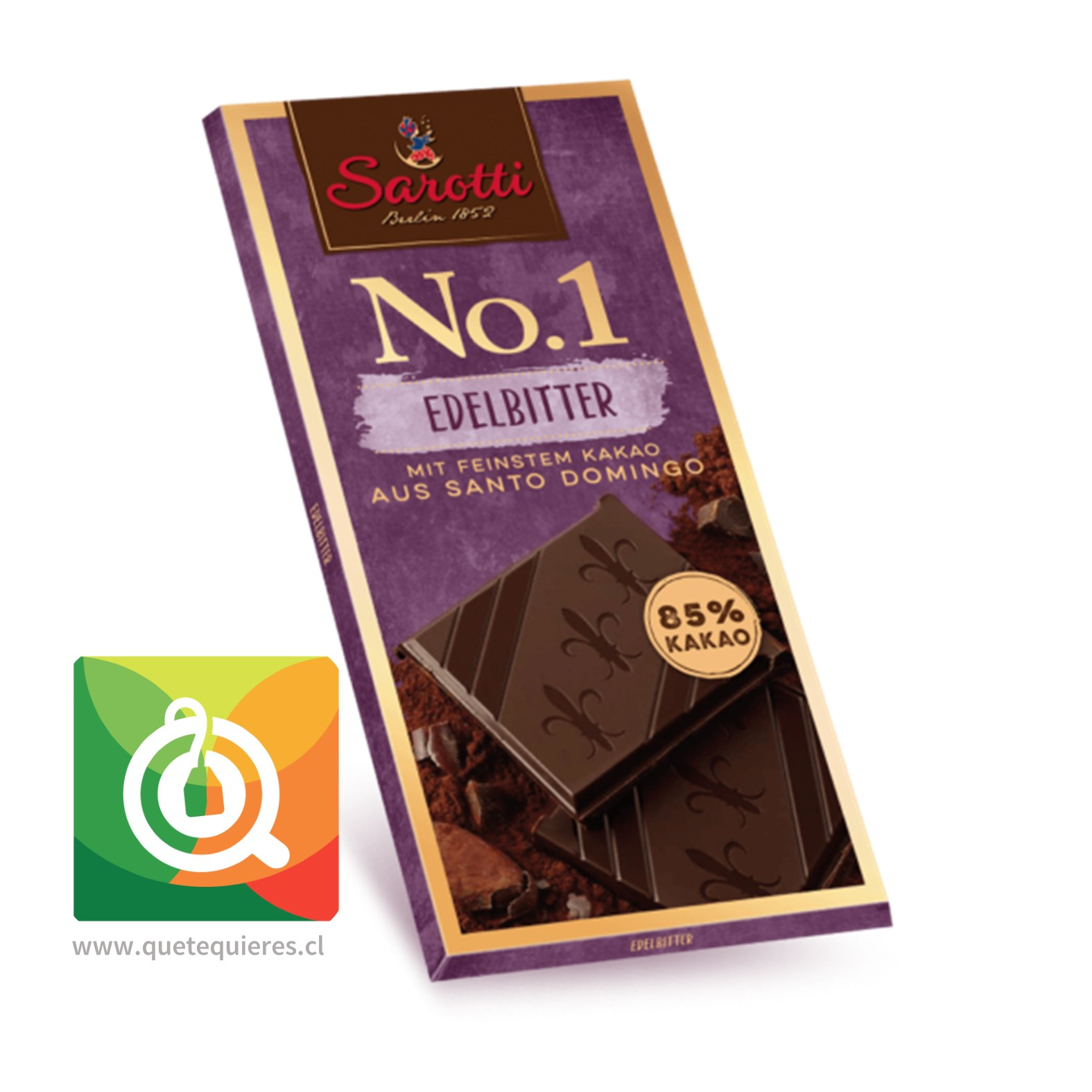 Sarotti Chocolate Barra N°1 Dark 85% Cacao de Santo Domingo