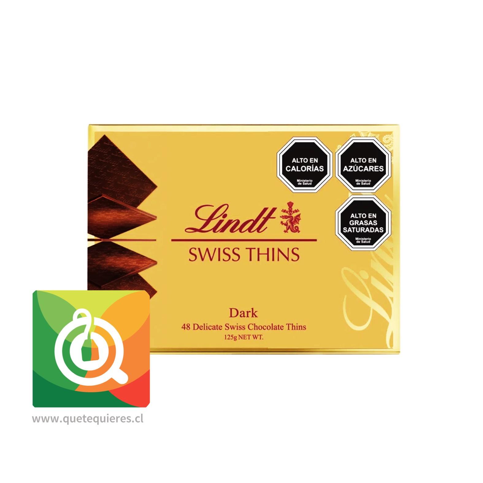 Lindt Laminas de Chocolate Swiss Thins Dark- Image 2
