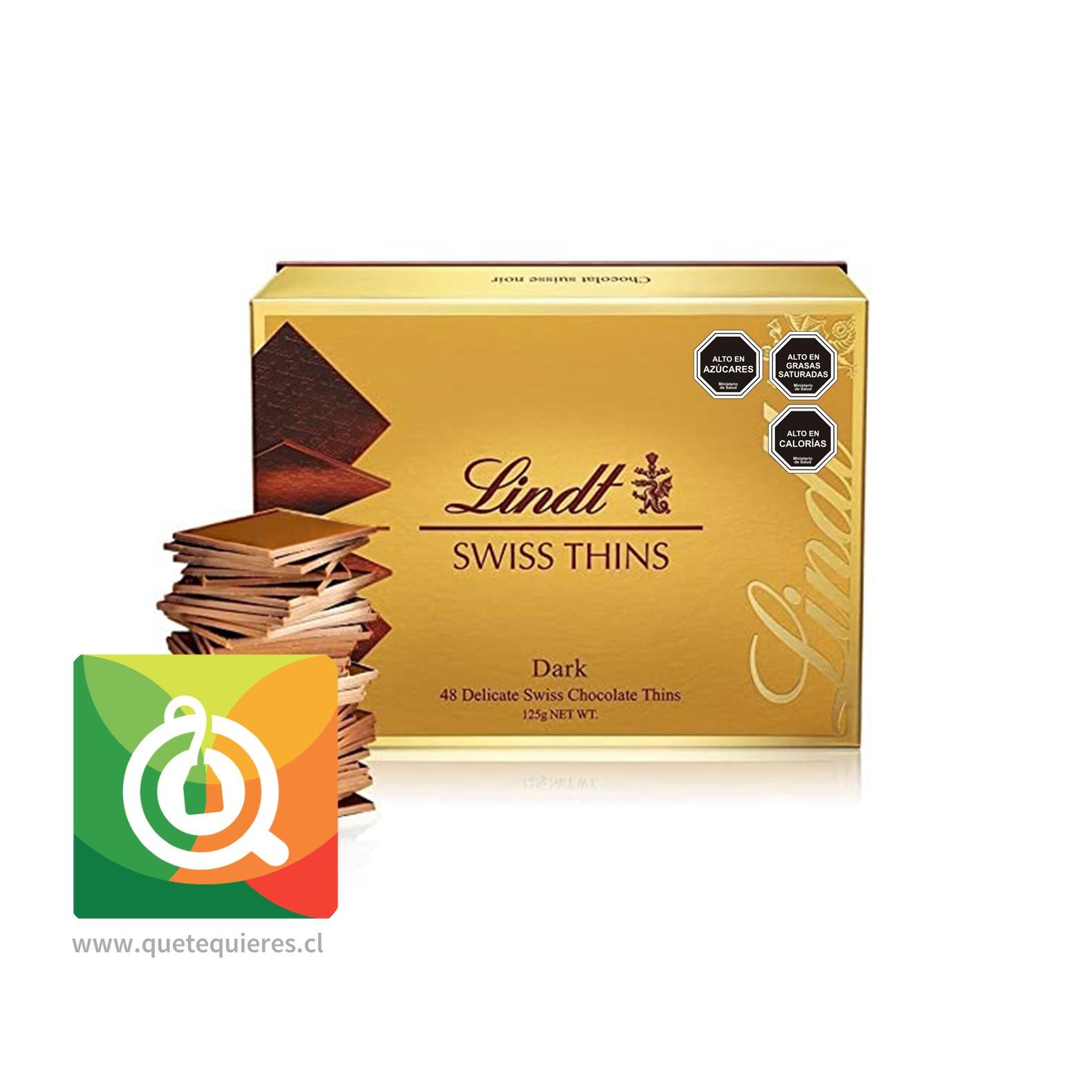 Lindt Laminas de Chocolate Swiss Thins Dark- Image 1