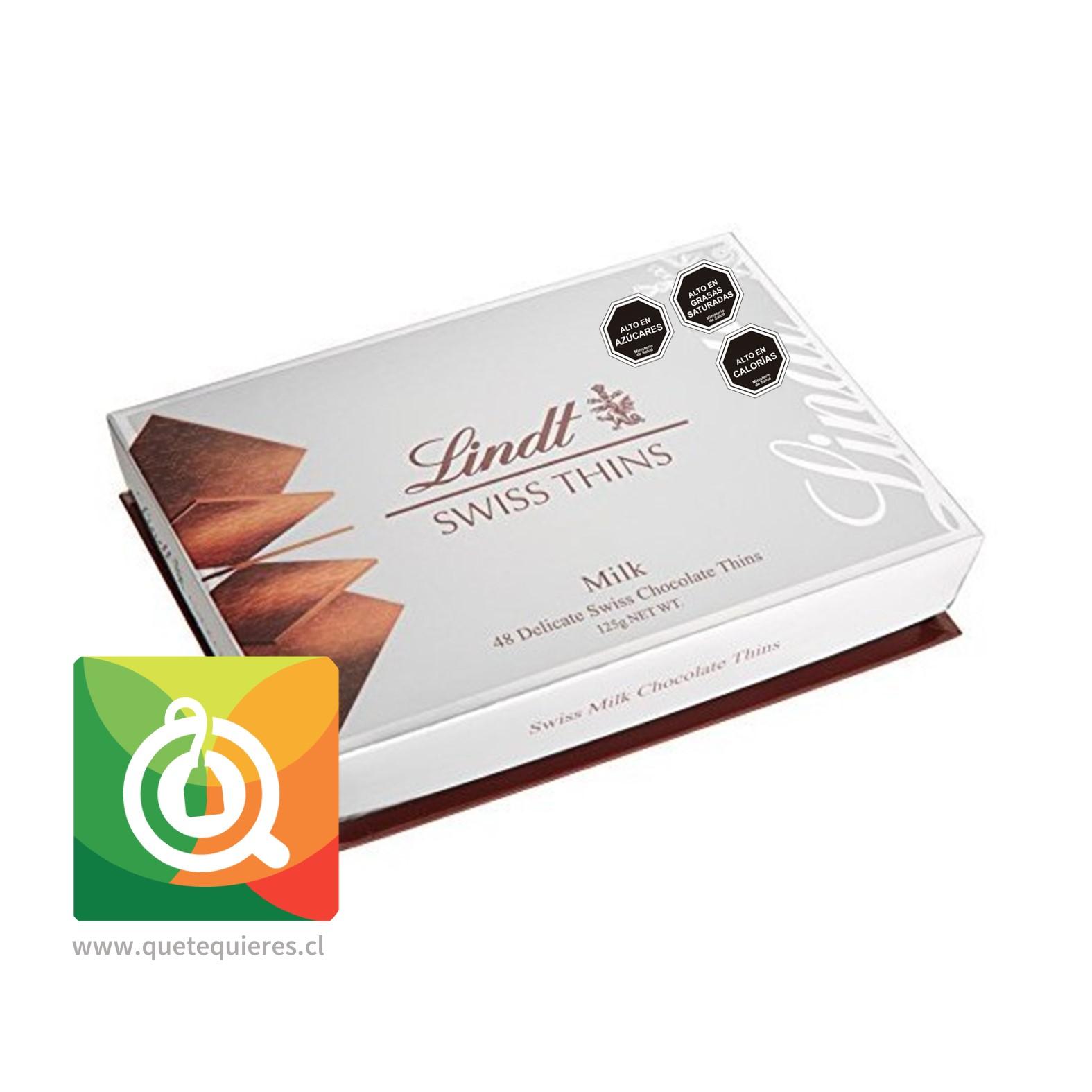 Lindt Laminas de Chocolate Swiss Thins Milk- Image 1