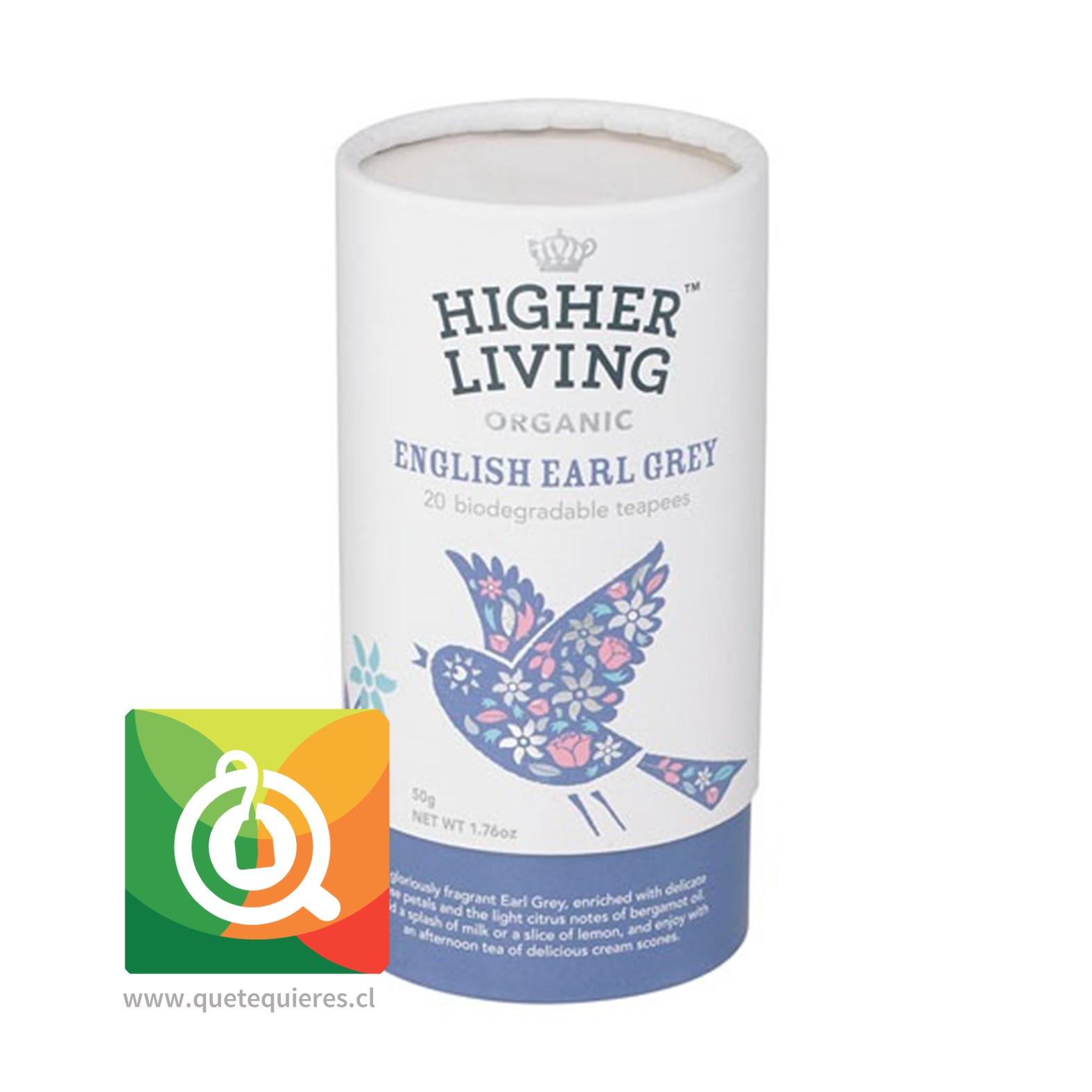 Higher Living Té Negro English Earl Grey