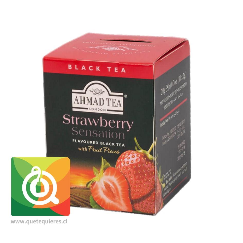 Ahmad Té Negro Frutilla - Strawberry Sensation