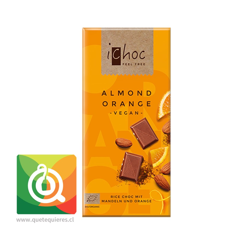 Ichoc Chocolate Naranja Almendra Orgánico y Vegano