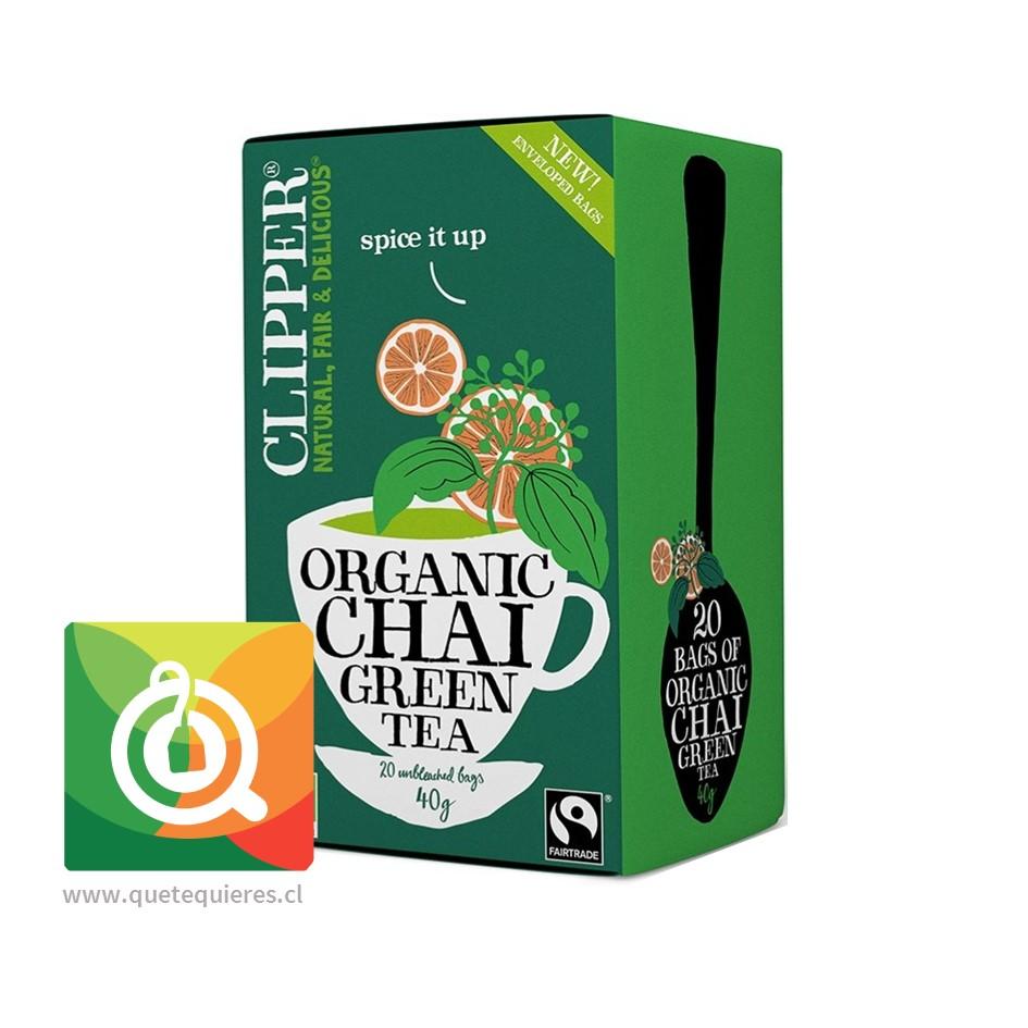 Clipper Té Verde Chai Orgánico