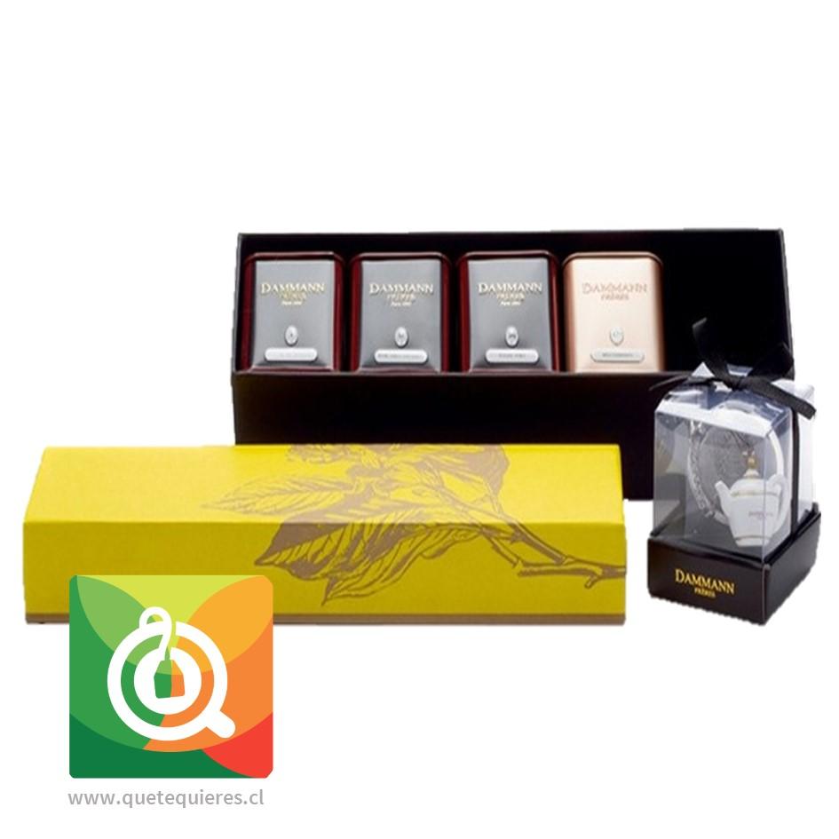 Dammann Caja de Tés 4 variedades + Infusor de Té - Éclats- Image 1