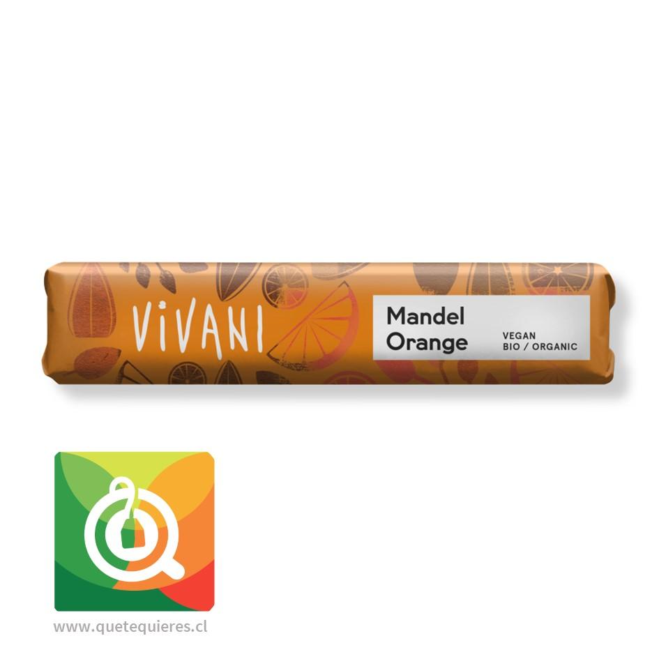 Vivani Barra de Chocolate con trozos de Almendra y Naranja Orgánico