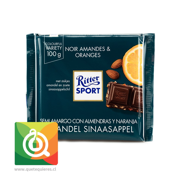 Ritter Sport Chocolate Barra Almendras y Naranjas