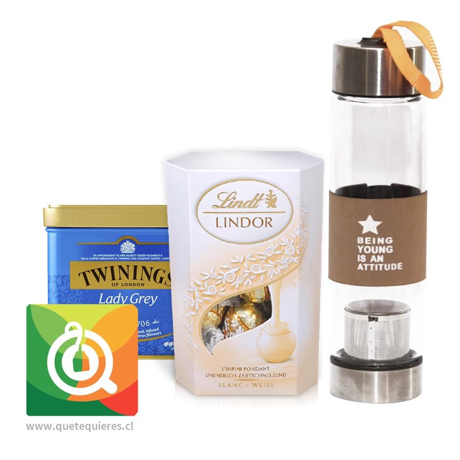 Pack Twinings Té Negro Lady Grey + Lindt Chocolate Bombon + Infusor Café