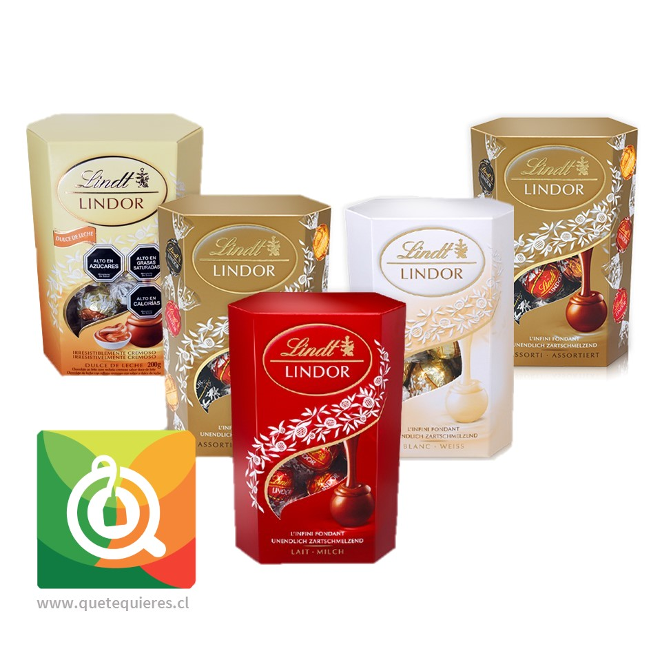 Pack 5 Lindt Chocolate Bombon Surtido