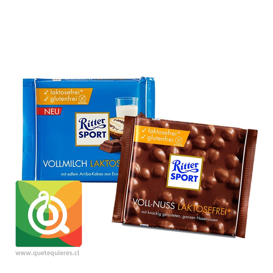 Pack Ritter Sport Chocolates Sin Lactosa y Sin Gluten