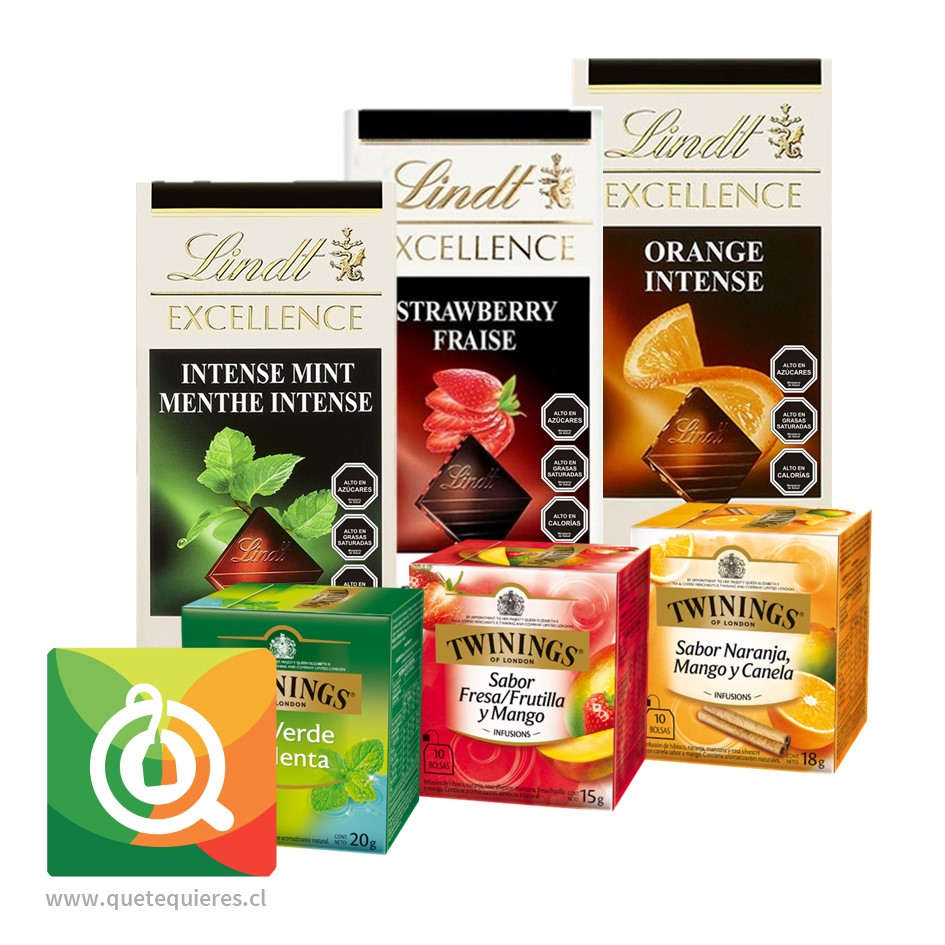 Pack Lindt Chocolates Barra + Twinings Surtido