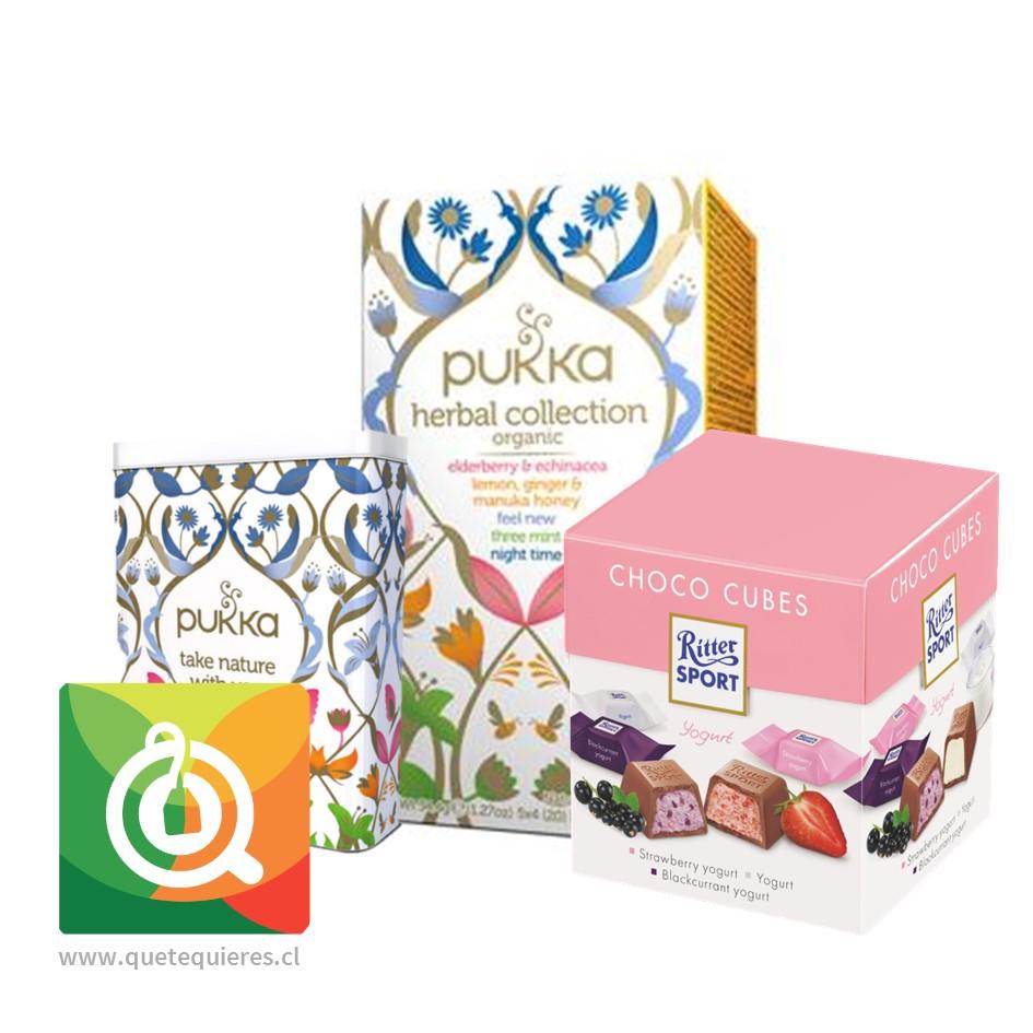 Pack Pukka Infusiones + Caja Metalica + Ritter Sport Chocolate