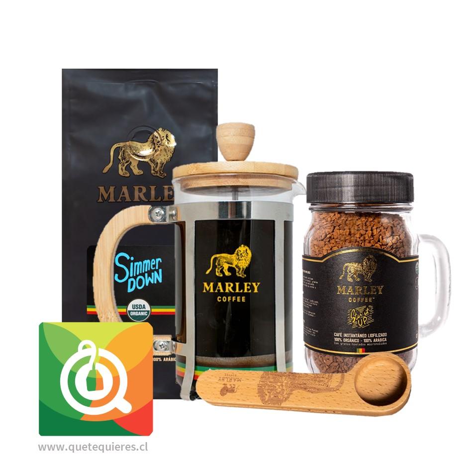 Pack Marley Coffee Café Simmer Down + Café Liofilizado + Prensa 600 ml + Cuchara