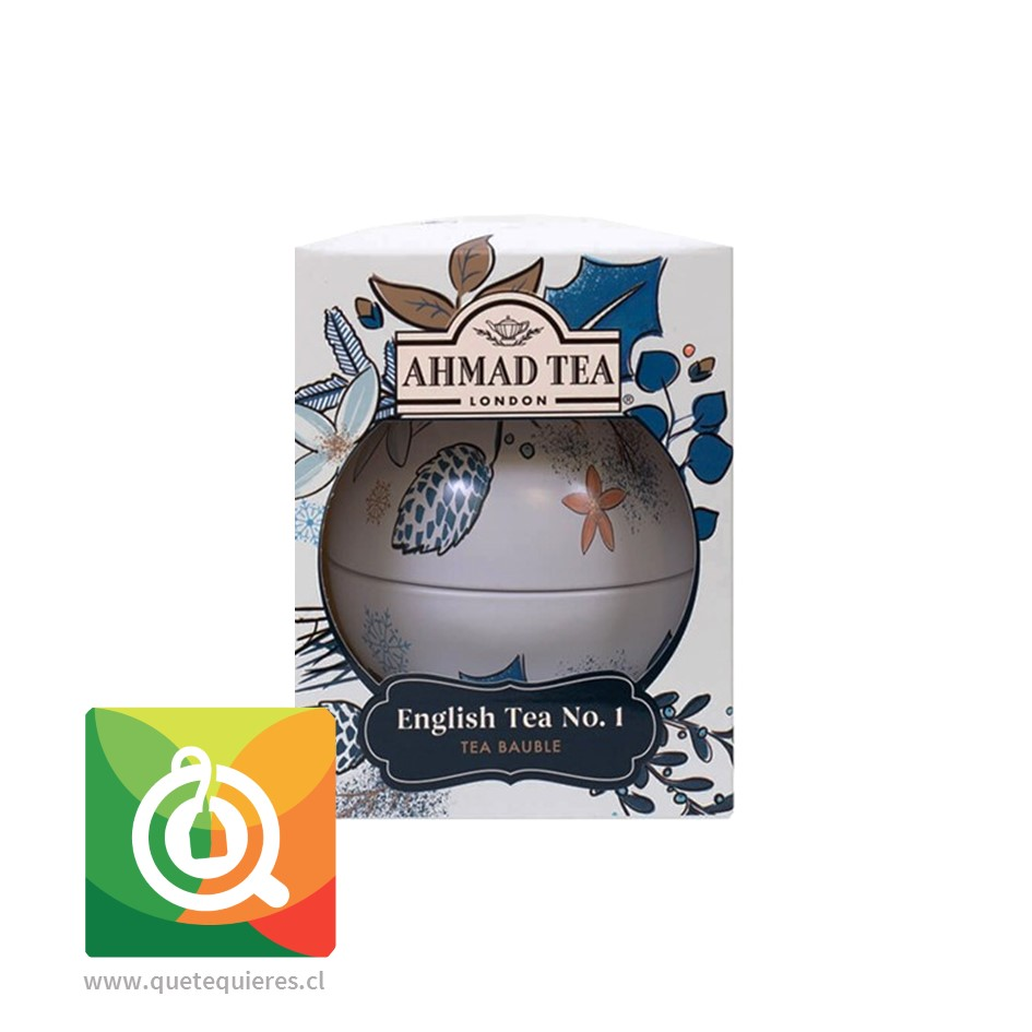 Ahmad Té Negro English N°1 Bola Navidad Blanca - Image 1