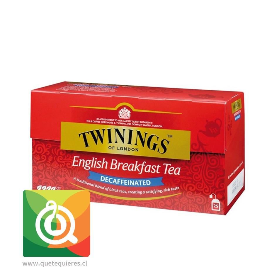 Twinings Té Negro English Breakfast Descafeinado