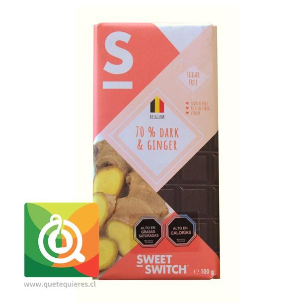 Sweet Switch Chocolate Belga Amargo con Jengibre