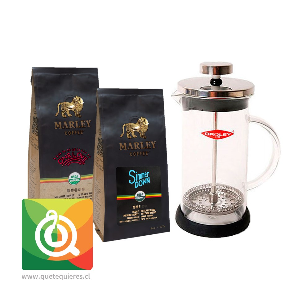 Pack Oroley Cafetera Spezia + Marley Coffee Café One Love + Simmer Down